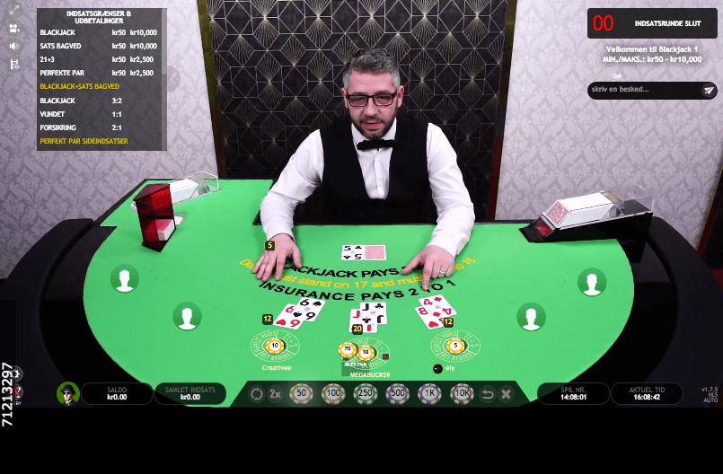 Spil blackjack live casino
