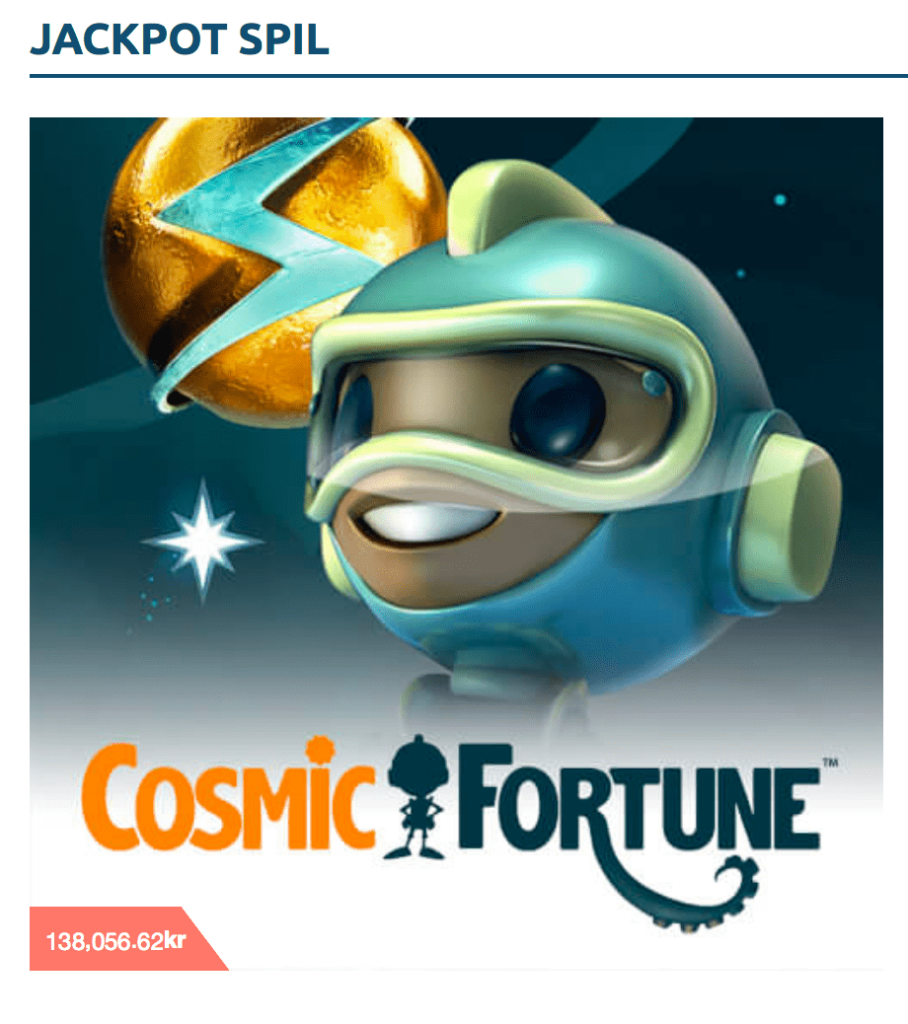 cosmic fortune jackpot spil